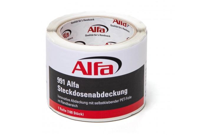 Abkleben einer Steckdose mit der Alfa Steckdosenabdeckung