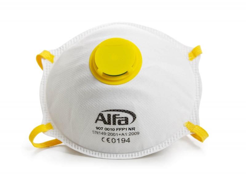 907 Alfa Feinstaubmaske FFP1 (mit Ventil)