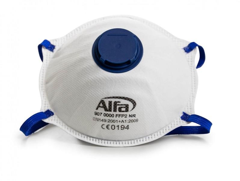 907 Alfa Feinstaubmaske FFP2 (mit Ventil)