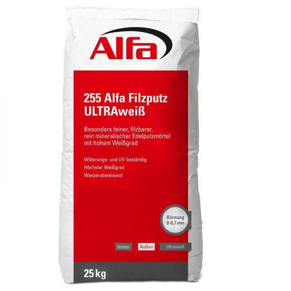 255 Alfa Filzputz ULTRAweiß