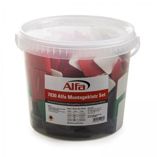 7030 Alfa Montageklotz Set