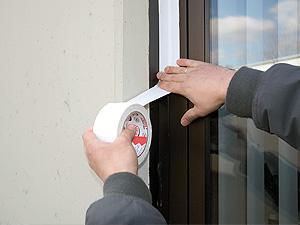 Besonders leicht abrollbares PVC-Schutzband