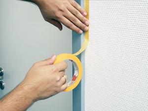 Spezialpapierband für scharfe Farbkanten