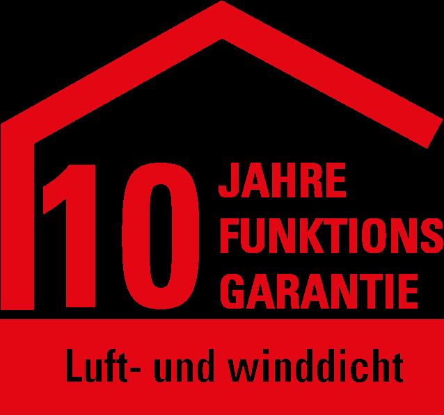 Funktionsgarantie 10 Jahre